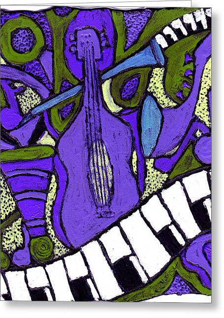 Melllow Jazz Greeting Card by Wayne Potrafka