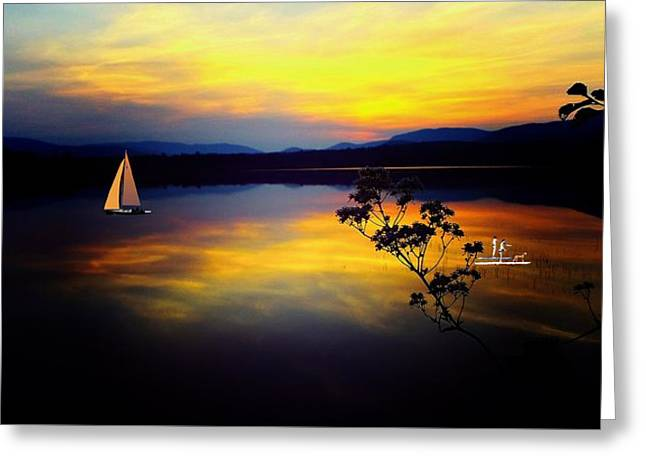 Mellow Moments In New England Greeting Card