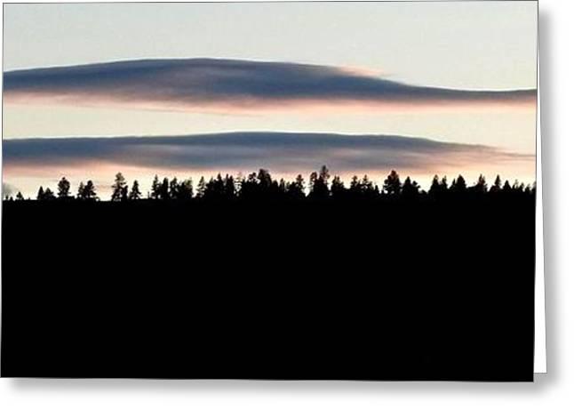 Mellow Sky Panorama Greeting Card