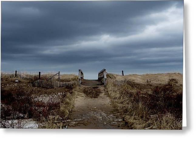 Greeting Card featuring the photograph Melmerby Beach Boardwalk by Kathleen Sartoris