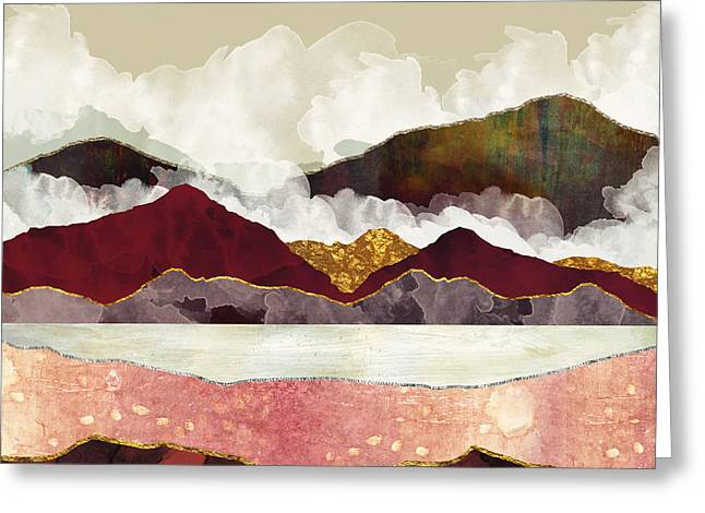 Melon Mountains Greeting Card by Katherine Smit
