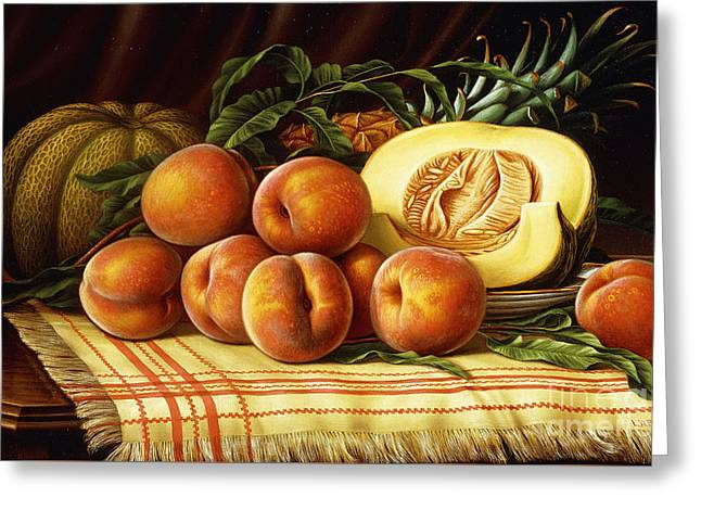 Melons, Peaches And Pineapple Greeting Card