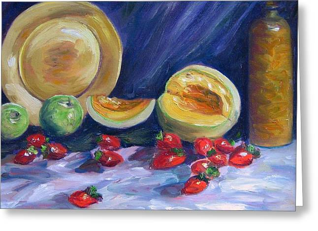 Melons With Strawberries Greeting Card by Richard Nowak
