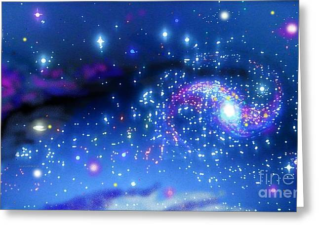 Melonyrenas Starry Night Greeting Card by Bob Schmidt