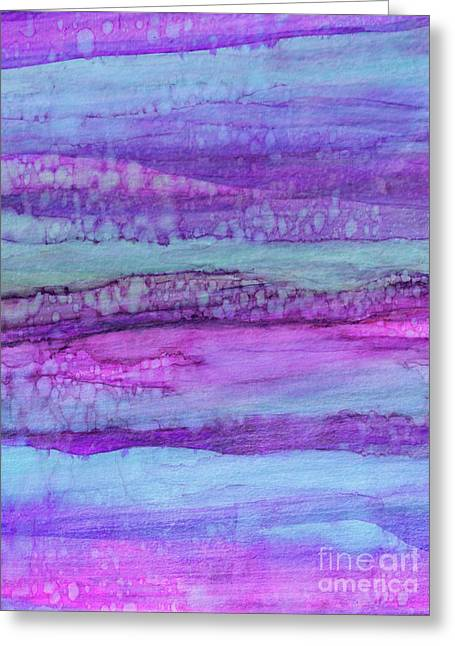 Melt Into Rock Greeting Card by Miabella Mojica