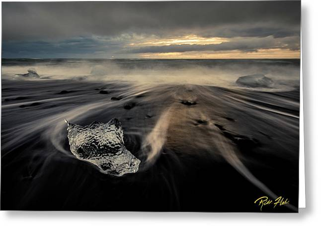 Greeting Card featuring the photograph Melted At Dawn by Rikk Flohr