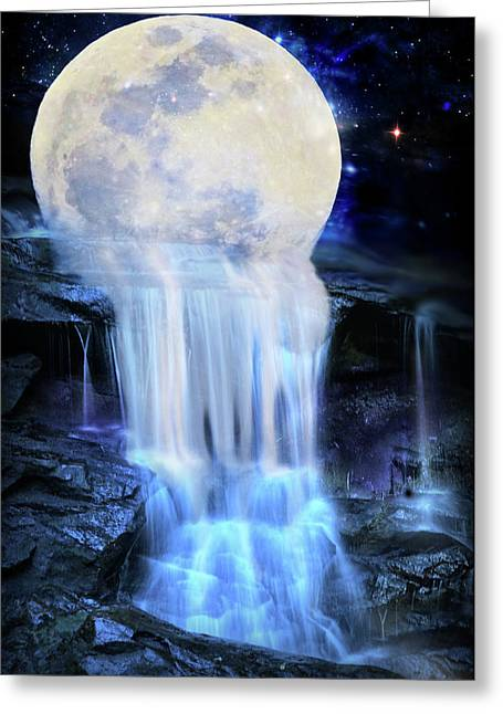 Melted Moon Greeting Card