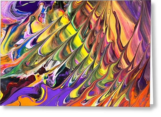 Melted Swirl Greeting Card