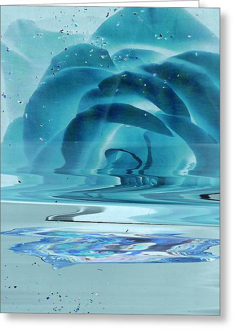 Anne-elizabeth Whiteway Greeting Cards - Melting Blue Rose  Greeting Card by Anne-Elizabeth Whiteway