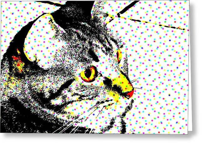 Melvin In Dots Greeting Card by Paulo Guimaraes