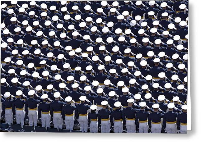 Members Of The U.s. Air Force Academy Greeting Card by Stocktrek Images