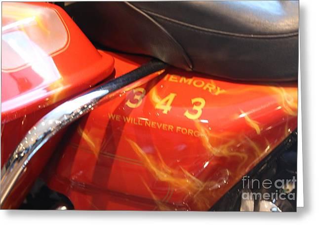 Memorial Bike 9/11   B Greeting Card