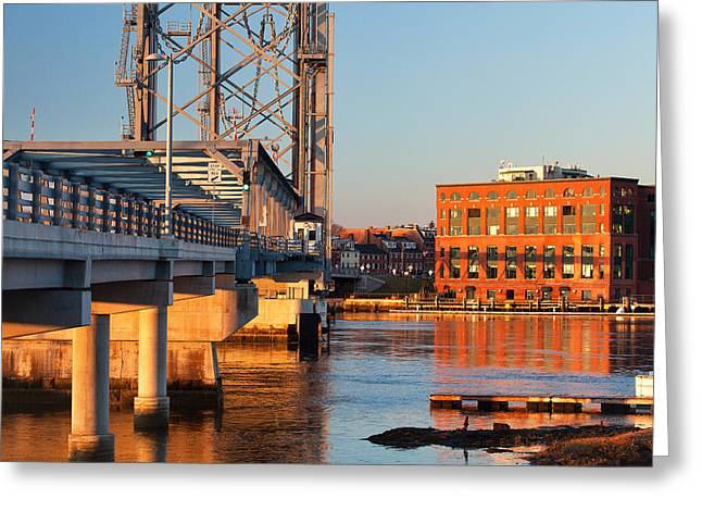 Memorial Bridge At Sunrise Greeting Card by Eric Gendron