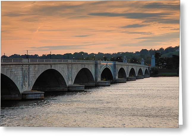 Memorial Bridge I Greeting Card by Steven Ainsworth