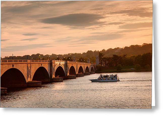Boat Cruise Photographs Greeting Cards - Memorial Bridge II Greeting Card by Steven Ainsworth