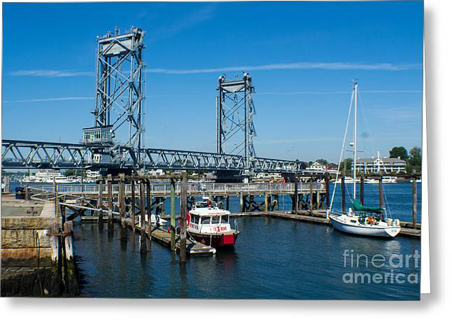 Memorial Bridge Portsmouth Greeting Card by Kevin Fortier