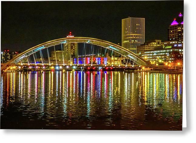 Memorial Bridge Reflections Greeting Card by Gary Stanton
