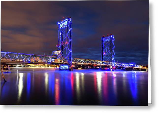 Greeting Card featuring the photograph Memorial Bridge by Robert Clifford