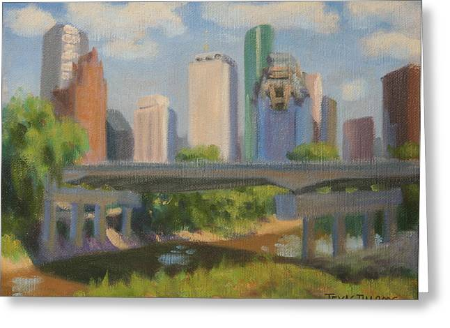 Memorial Brigde Over Buffalo Bayou Greeting Card