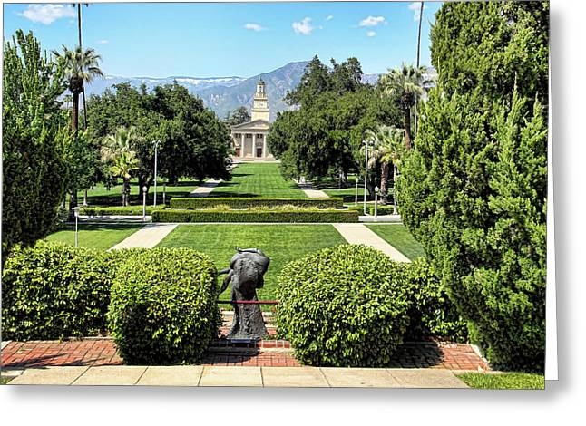 Memorial Chapel University Of Redlands Greeting Card by Mariola Bitner