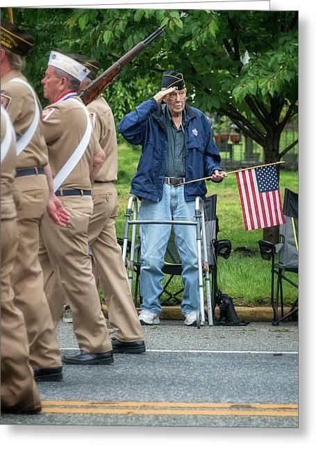 Memorial Day Parade  Greeting Card