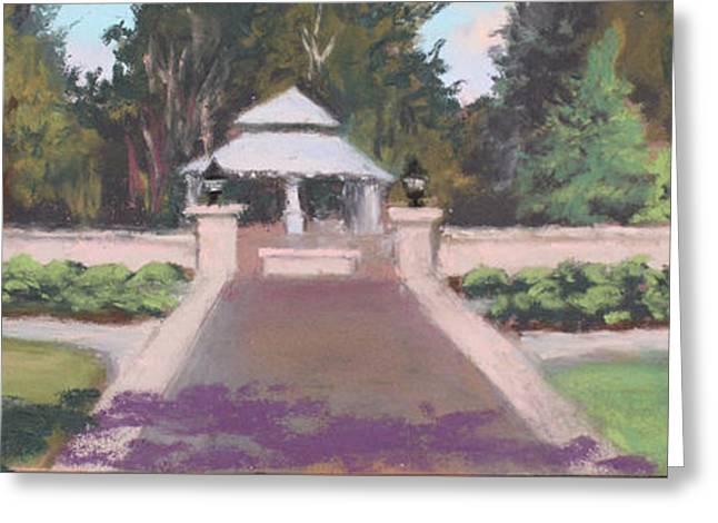 Memorial Garden Lakeside, Ohio Greeting Card by Terri  Meyer