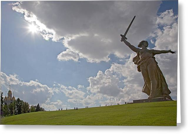 Memorial Of The Second World War In Volgograd Greeting Card