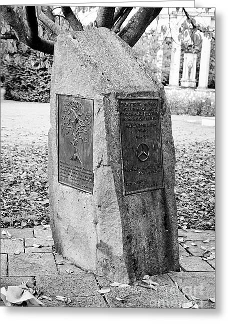 Memorial To Welsh Who Fought In The International Brigade In The Spanish Civil War Alexandra Gardens Greeting Card