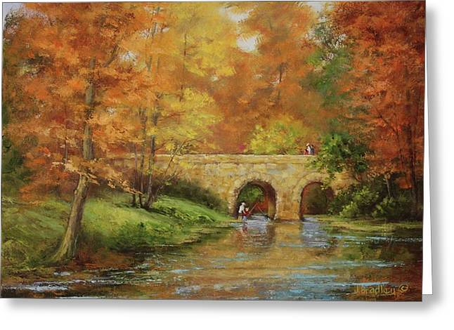 Memories At Stone Bridge Greeting Card