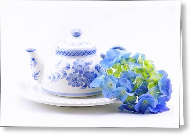 Memories In Blue Greeting Card