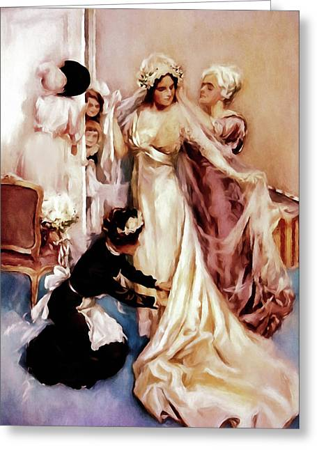 Memories Of A Bride Greeting Card