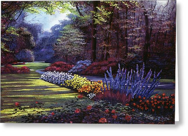 Memories Of Beacon Hill Park Greeting Card by David Lloyd Glover