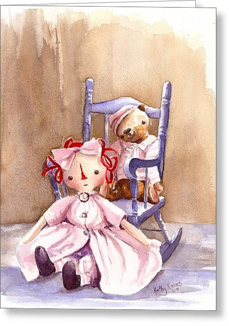 Memories Of Childhood Greeting Card by Kathy  Karas