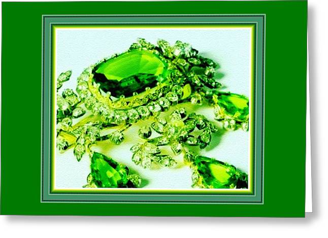 Memories Of Grandma's Brooches No. 18 H B With Decorative Ornate Printed Frame. Greeting Card