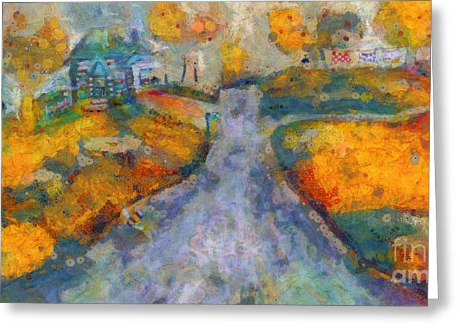 Memories Of Home In Autumn Greeting Card