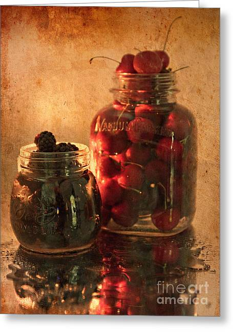 Memories Of Jams, Preserves And Jellies  Greeting Card by Sherry Hallemeier