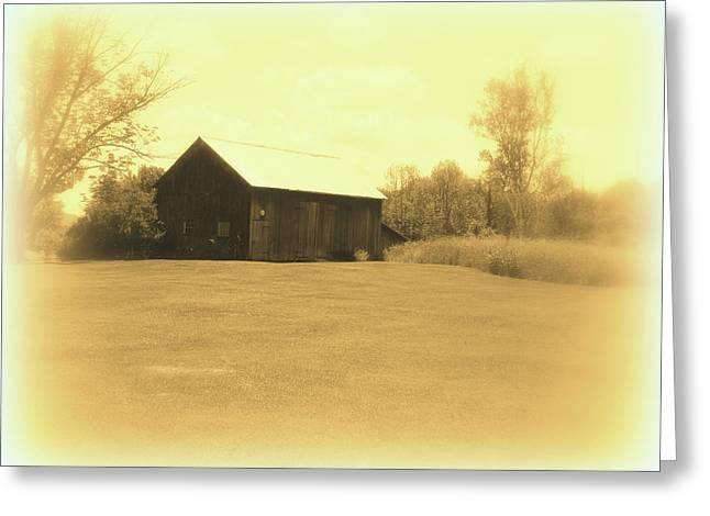 Memories Of Long Ago - Barn Greeting Card by Susan Lafleur