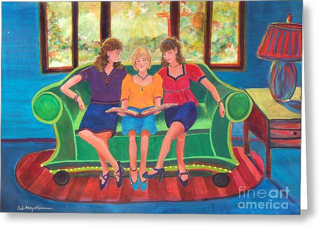 Reading Of Image Greeting Cards - Memories of Mom Greeting Card by Deb Magelssen