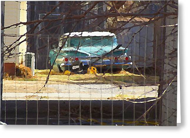 Memories Of Old Blue, A Car In Shantytown.  Greeting Card