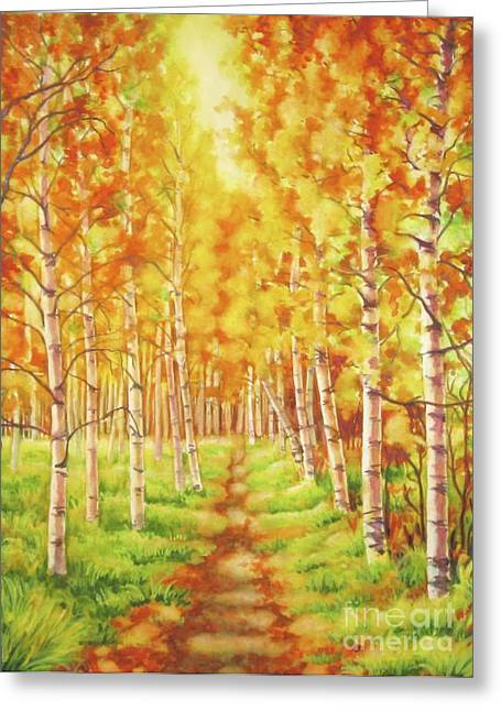 Memories Of The Birch Country Greeting Card