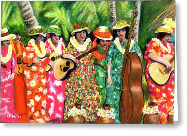 Memories Of The Kodak Hula Show At Kapiolani Park In Honolulu #20 Greeting Card by Donald k Hall