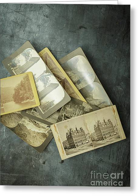 Memories Old Stereograph Photographs Greeting Card by Edward Fielding