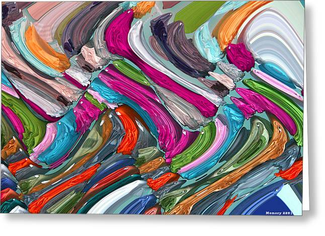 Greeting Card featuring the digital art Memory 2251 by Brian Gryphon
