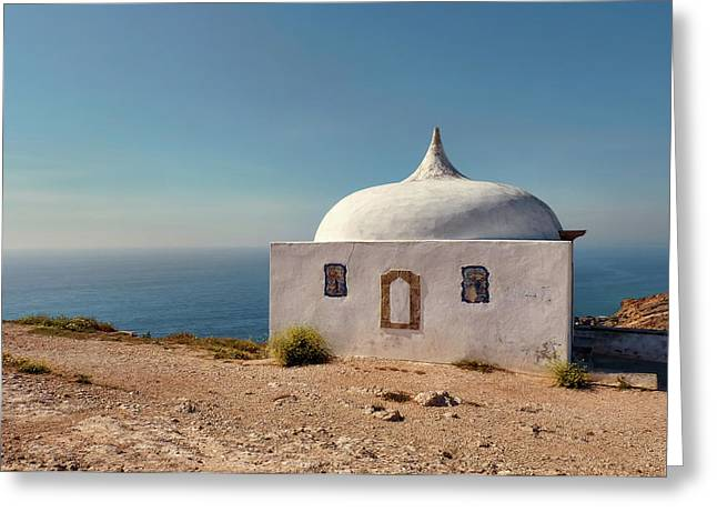 Memory Chapel Monastery On The Cliffs Of Cabo Espichel Sesimbra  Greeting Card