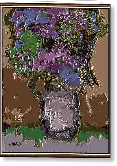 Greeting Card featuring the digital art Memory For Flowers Mof 4 by Pemaro