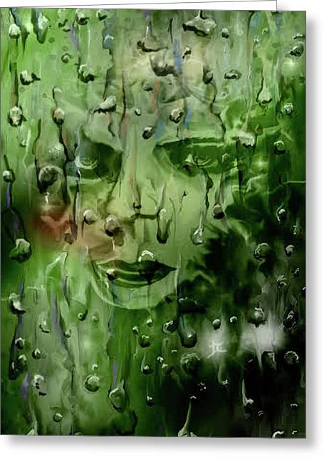 Greeting Card featuring the digital art Memory In The Rain by Darren Cannell