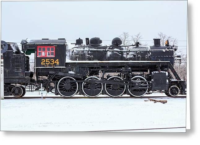 Memory Junction Railway Museum In Brighton Ontario Greeting Card by Louise Heusinkveld
