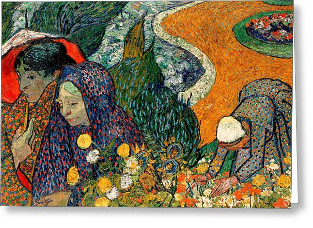 Greeting Card featuring the painting Memory Of The Garden At Etten by Van Gogh