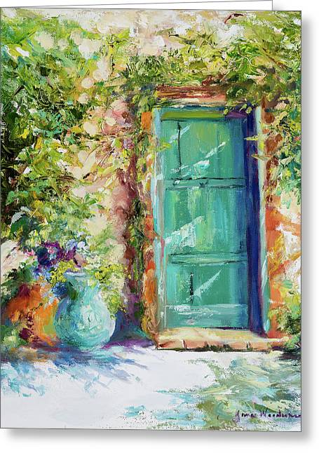 Memory Of Tuscany Greeting Card by Jane Woodward