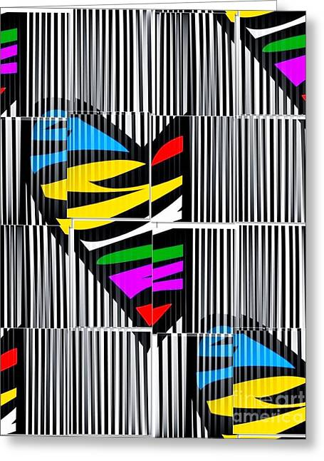 Memory Popart Heart By Nico Bielow  Greeting Card by Nico Bielow